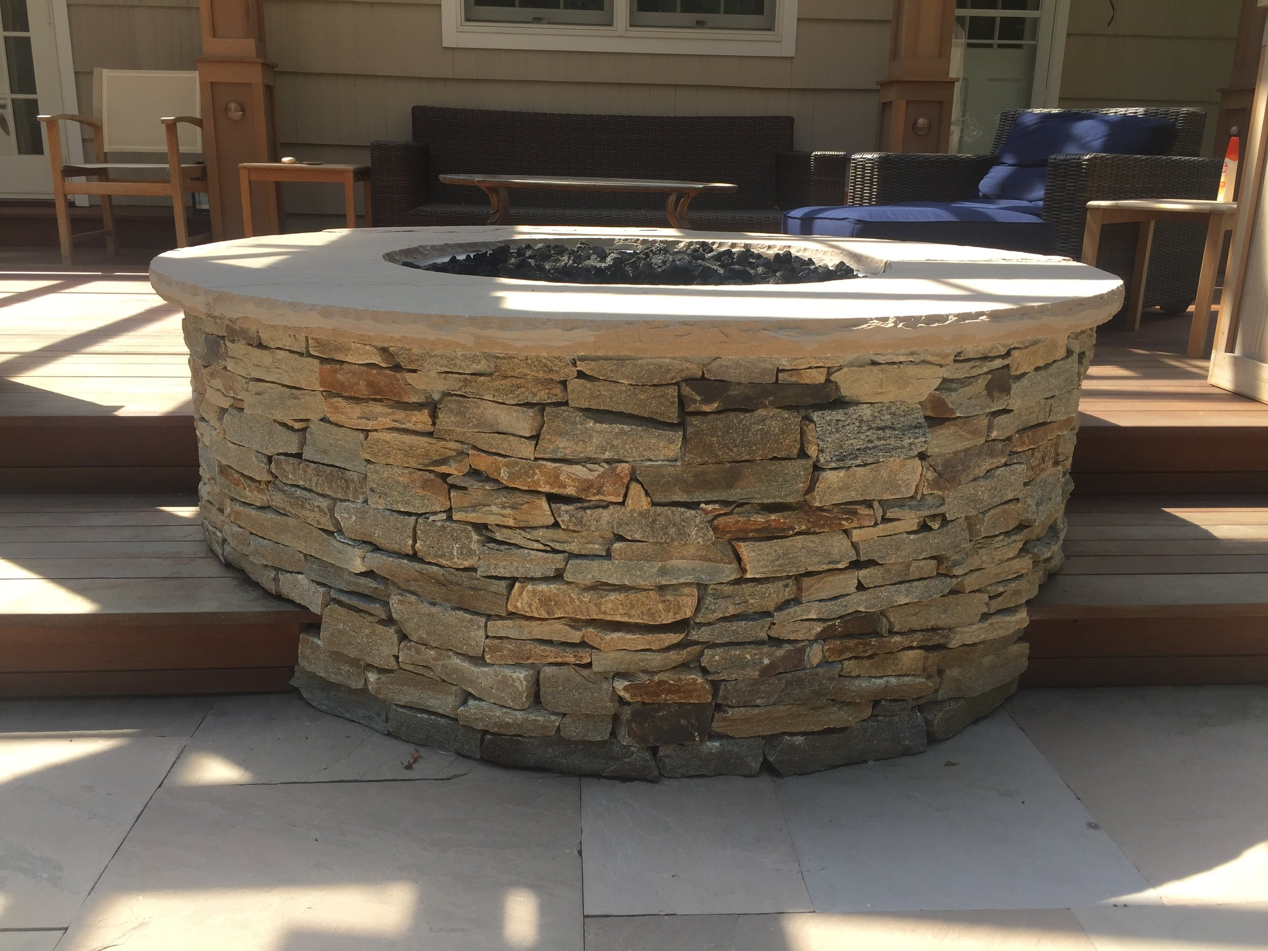 Outdoor fireplace in Deer Park NY