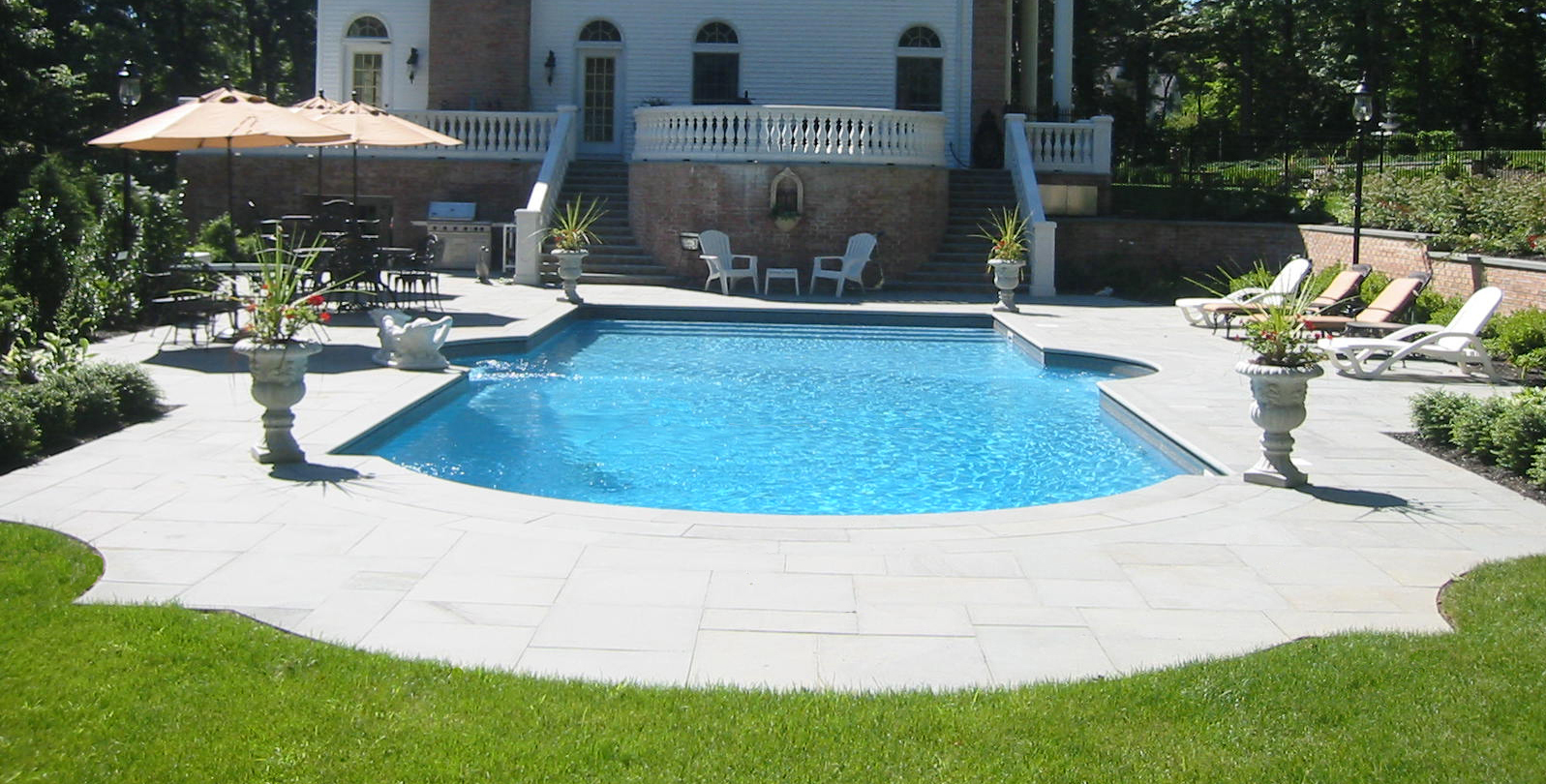 Professional pool hardscape design company in Long Island, NY