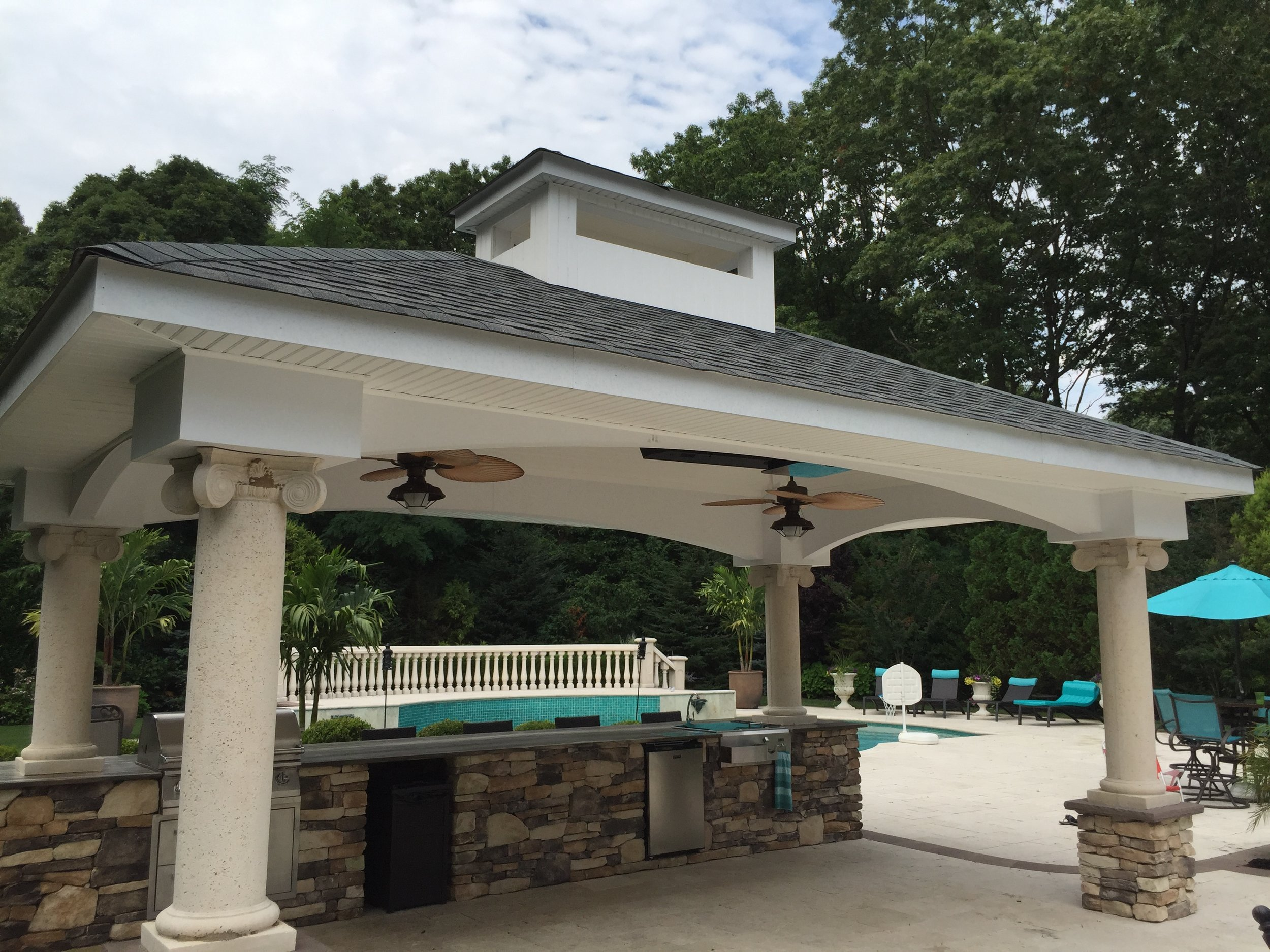Top outdoor kitchen pool house design company in Long Island, NY