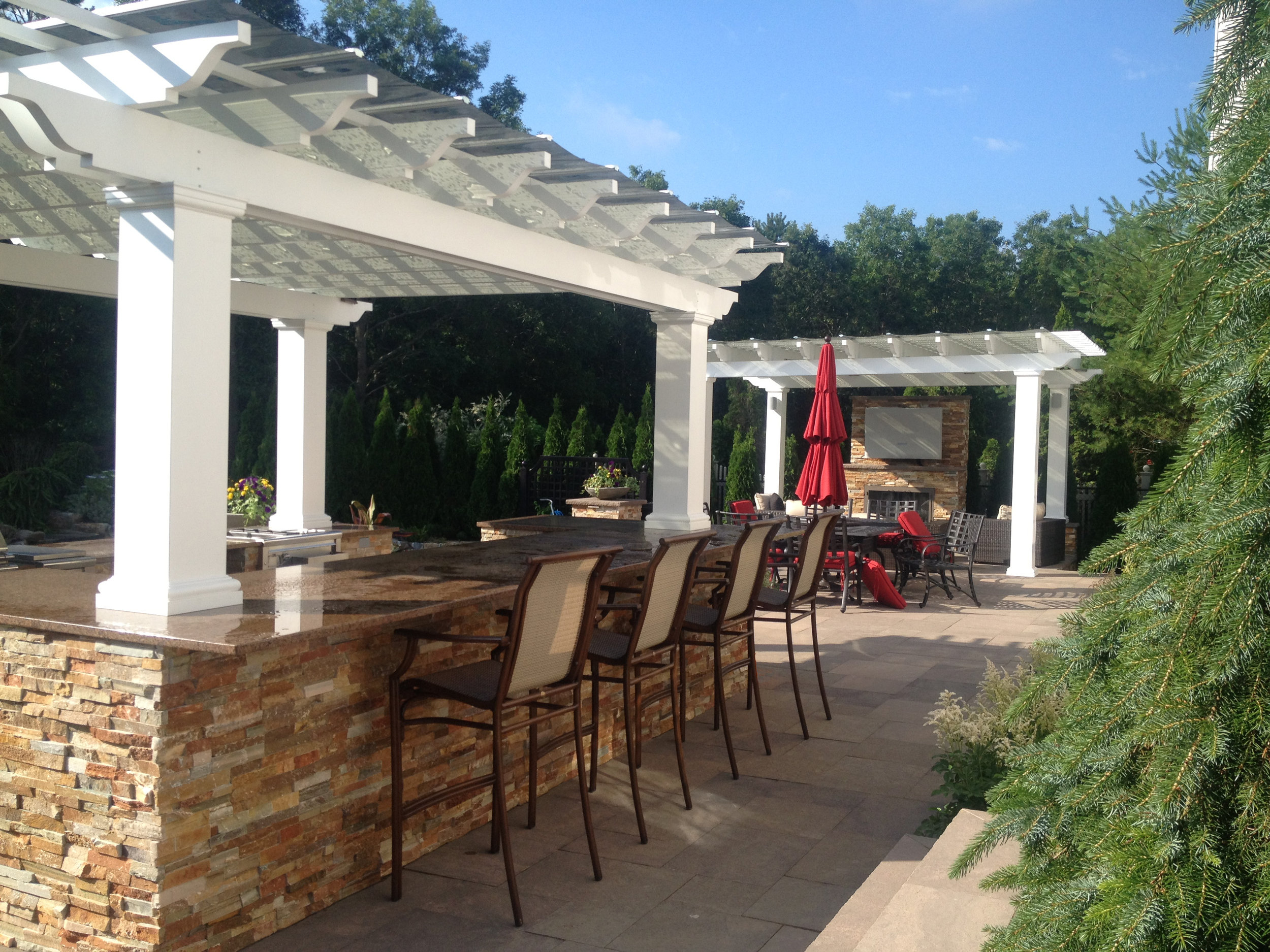Top quality pergola in Oyster Bay NY.