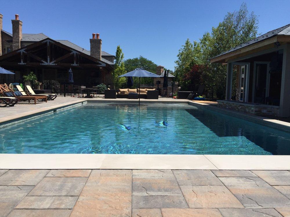Fiberglass swimming pool in Holbrook, NY