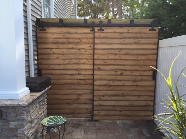 Patio ideas with fences in Southampton, NY