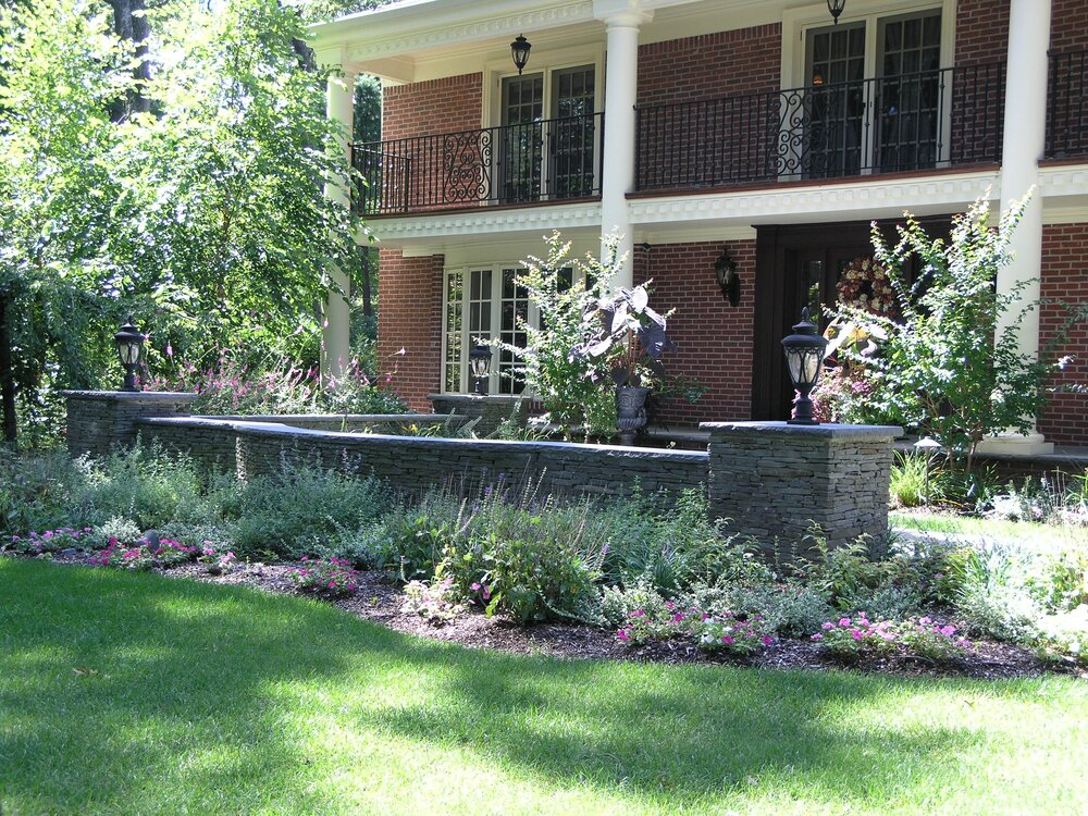 Accent Wall Landscape Architecture Old Westbury Southampton Ny Patio Ideas Outdoor Fireplace Stony Brook Ny Gary Duff Designs