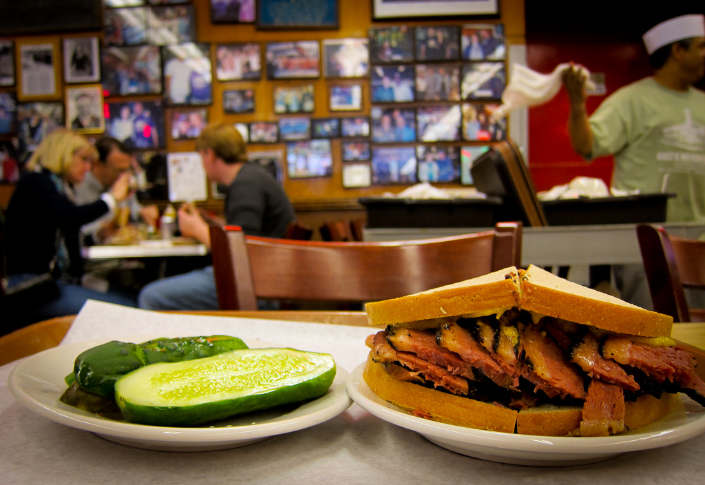 The Kaisermans love nothing more than pastrami. Deli is our religion as much as Judaism itself. Image courtesy of Flickr