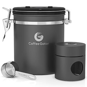 One example of a sealed coffee storage container