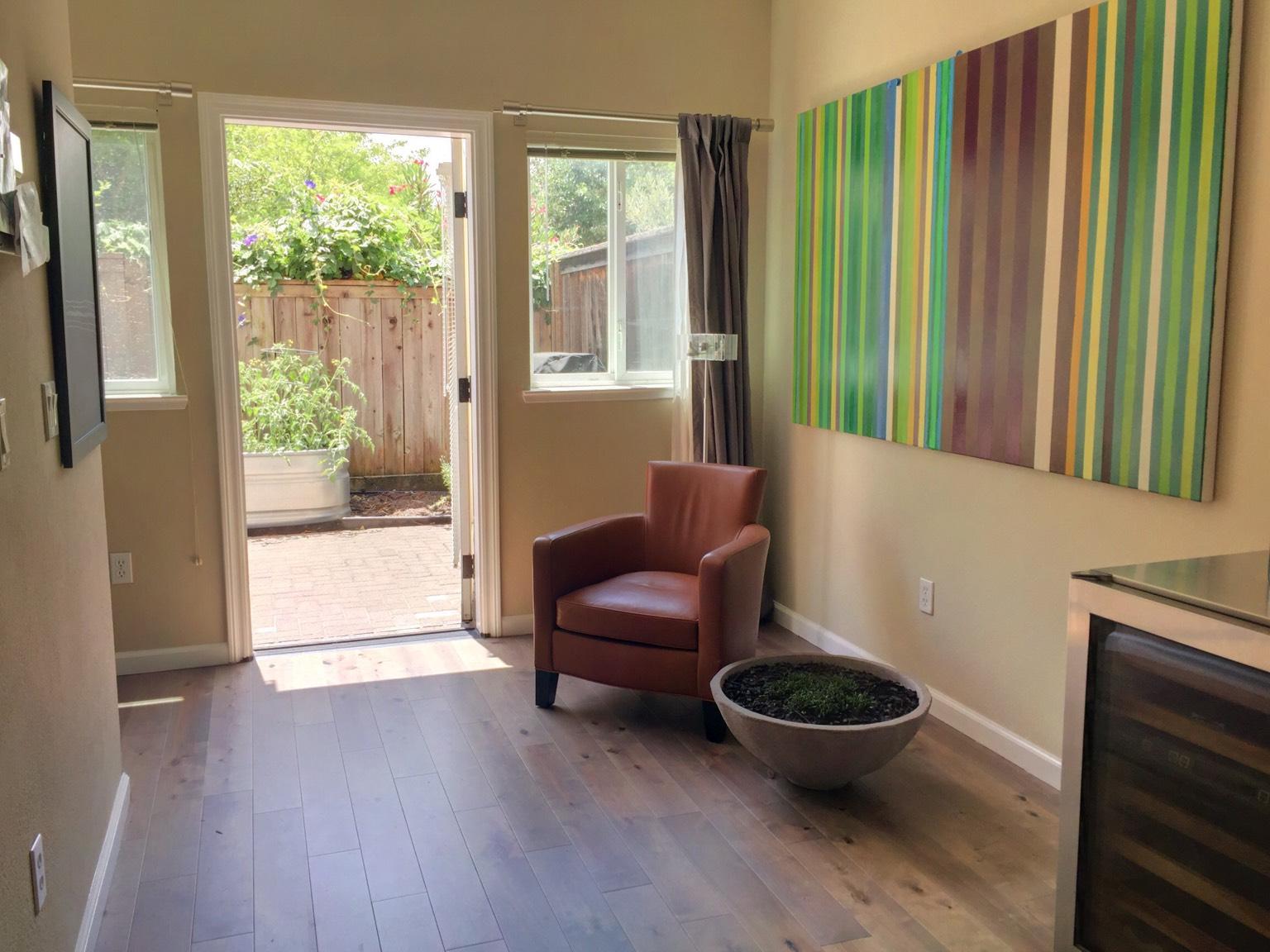 Sunny, cozy corner near entrance to private patio.