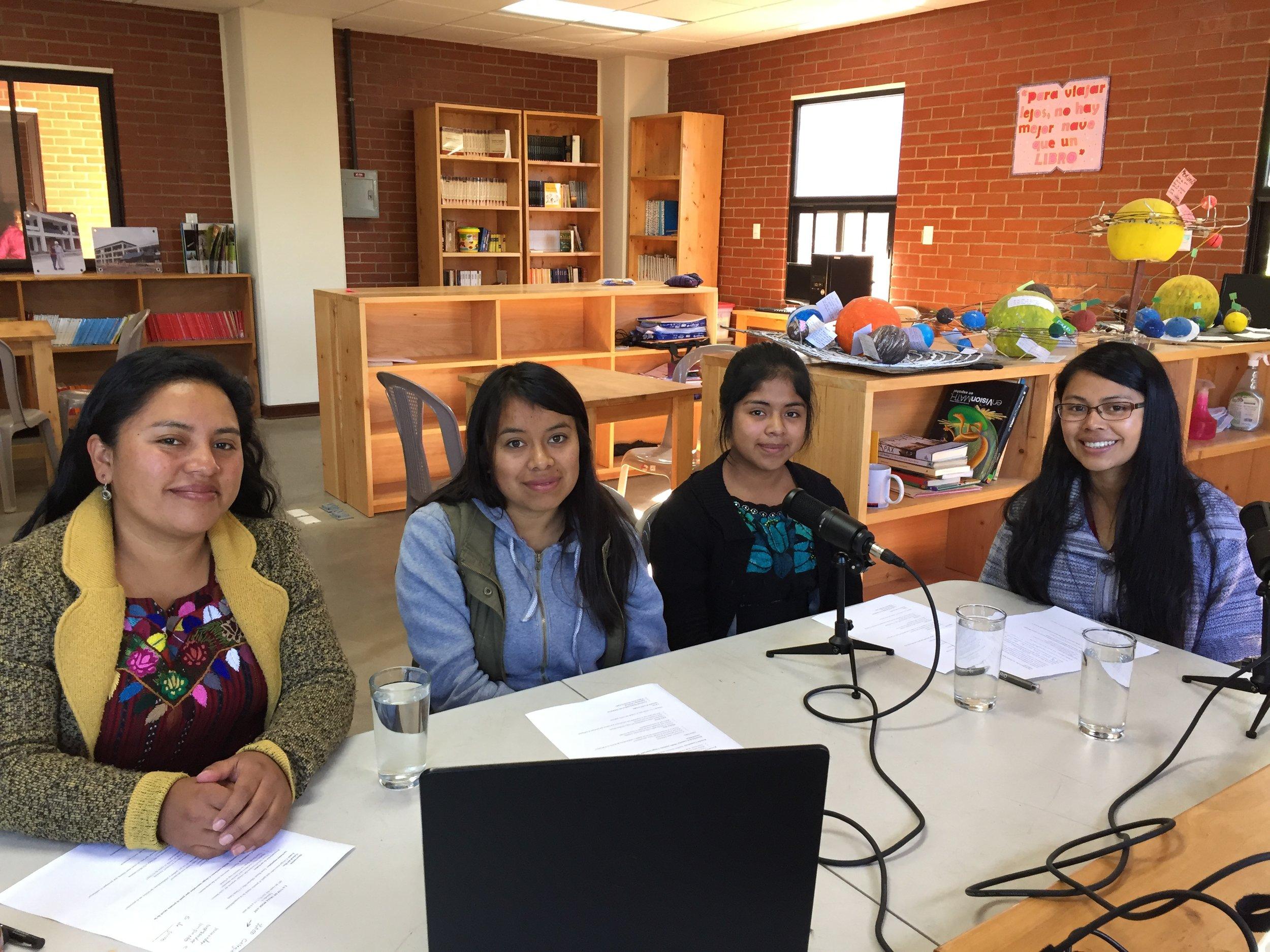 Vilma, Marlen y Estér nos cuentan sobre las iniciativas de MAIA para fomentar la sostenbilidad con jóvenes, personal y las familias.