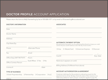 Dr. Account Application