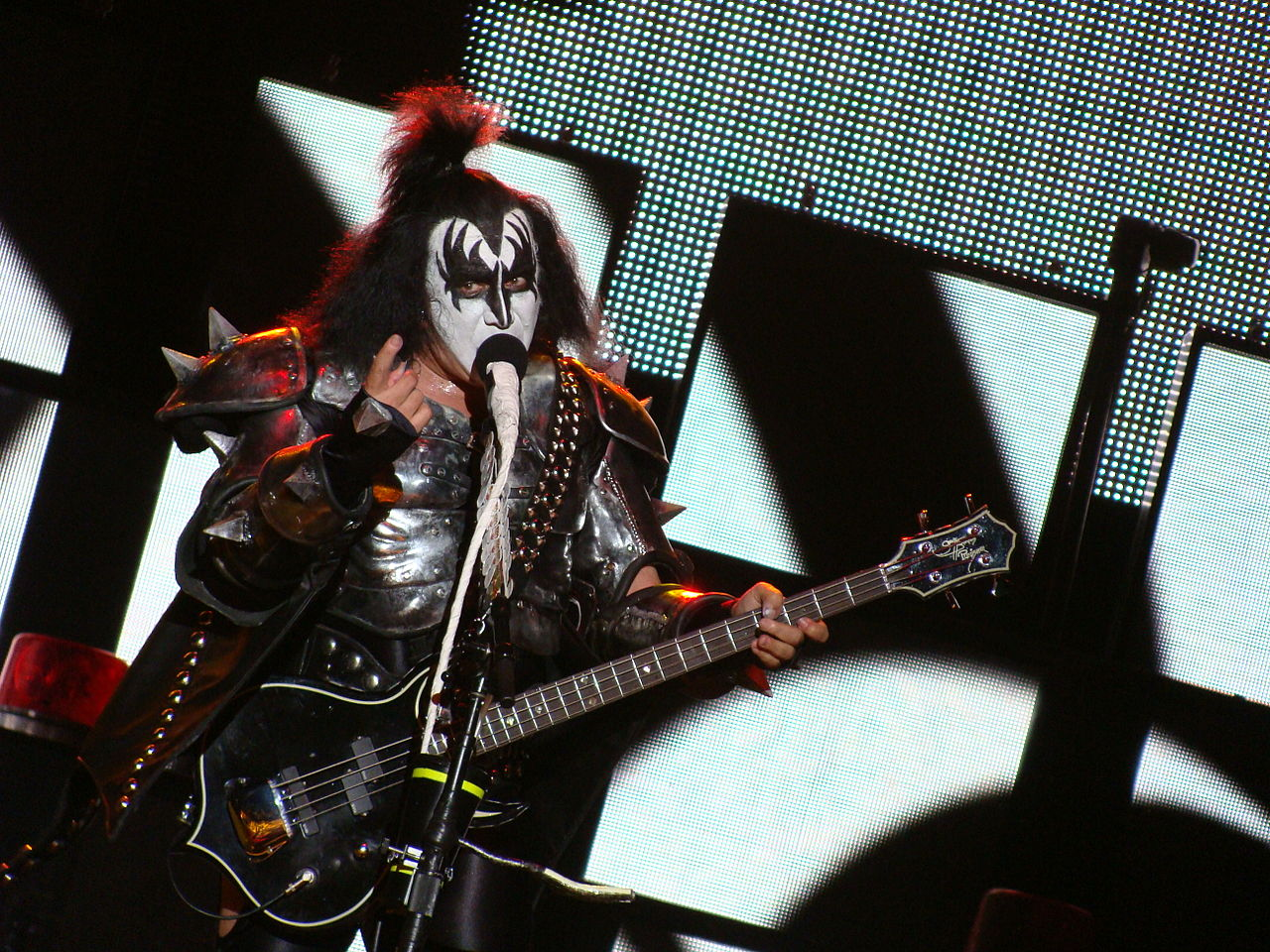Gene Simmons Performing with Kiss