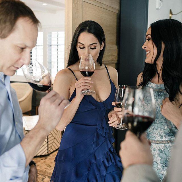 Wine = familia. Wine seems to bring people together for a lifetime. 👐 🥂 . . . . . . #strongwomen #wine #eentertainment #bellatwins #winenight #empoweringwomen #bellaarmy #wwe #totaldivas #totalbellas #wwewomen #nikkibella #briebella #danielbryan #divas #winetasting #winelover #laughter #smile #napa #goodlife #wine #sniff
