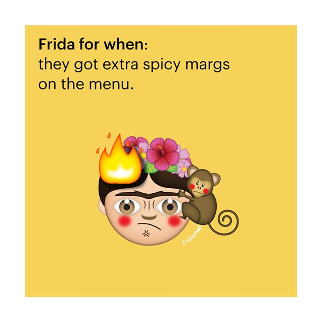 Bring it bish. I aint scared. Tag someone who aint scared to get a little spicy. . . . . . #tequila #margs #spicy #moji #cute #emoji #creative #design #happy #emojis #emoji4emoji  emojisinthewild #emojiworld #emojiart #museum_ito #museumito #artnerd #artlovers #artfido #frida #fridakahlo #fridakahlomx @fridakahlooficial @fridamkahlo @frida_inspired #FridaInspired #Frida #FridaKahlo #Friducha #fridamoji