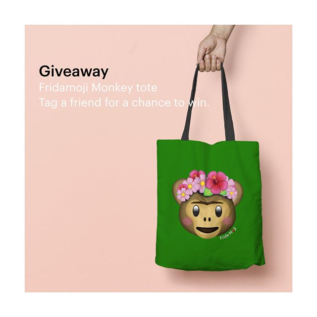 ⚡️GIVEAWAY!⚡️ To celebrate you, I'm giving away this #FridaMoji tote! To enter, COMMENT on this photo and TAG at least one friend. Make sure you're following @museum_ito on Instagram (if you aren't already). Contest ends 12pm PST on Monday, 4/3. I'll randomly select a winner and announce it here. Good luck! Thank you all for your support, inspiration, and kind words! 😍 . . . . (RULES: You must be 18 or older to enter. Open to U.S. residents only. Entries will be accepted until 4/3 at 12pm PST.  The winner will be chosen at random and announced here on 4/3. This promotion is in no way sponsored, endorsed or administered by, or associated with, Instagram.) . . . . #artwork #art #artist #moji #cute #emoji #creative #design #happy #emojis #emoji4emoji  emojisinthewild #emojiworld #emojiart #museum_ito #museumito #artnerd #artlovers #artfido #frida #fridakahlo #fridakahlomx @fridakahlooficial @fridamkahlo @frida_inspired #FridaInspired #Frida #FridaKahlo #Friducha #fridamoji