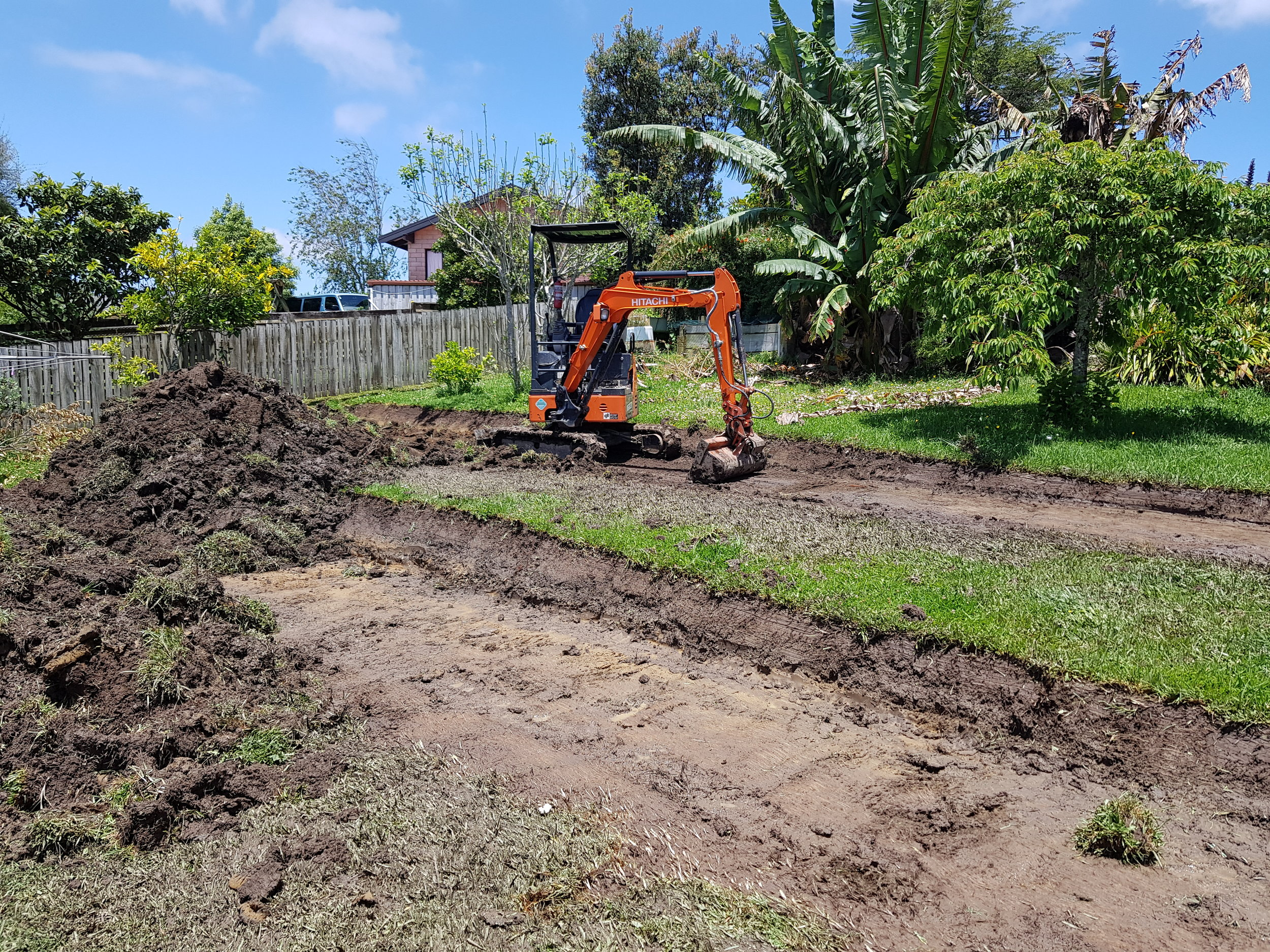 Warkworth   They wanted more out of their backyard. We reshapped the land by cutting in terraces to create more useable space.