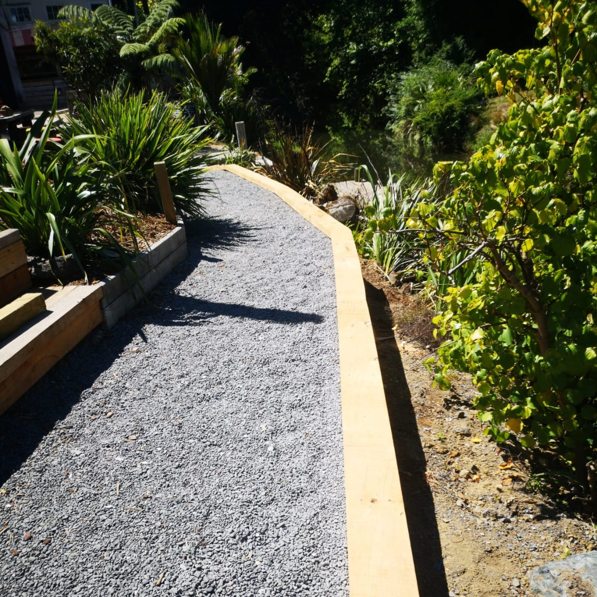 Matakana Markets   You'll often see us at Matakana Village helping out with ongoing maintenance. The footpath needed to be repaired and a new 15m retaining wall was constructed - both easy tasks for The Little Digger team.