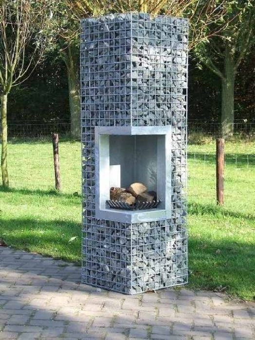 Firepit, outdoor oven, outdoor fireplace  Image via  HERE