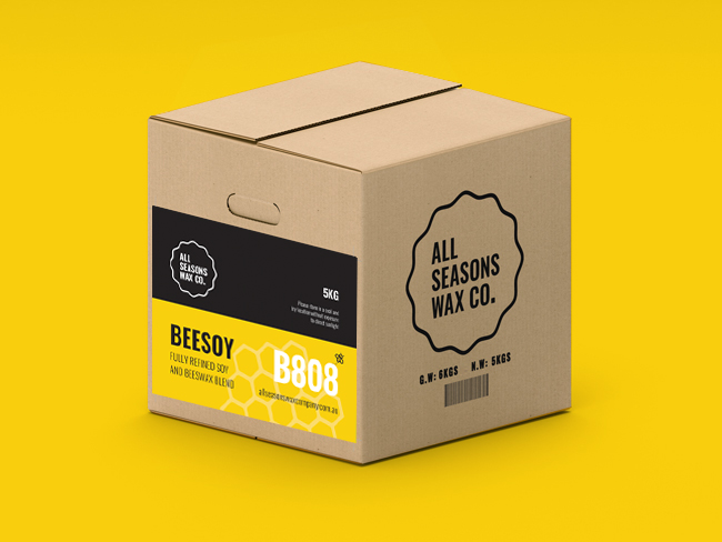 B808 BeeSoy Wax cartons include cut-out handles making them easier to pick-up and move around!