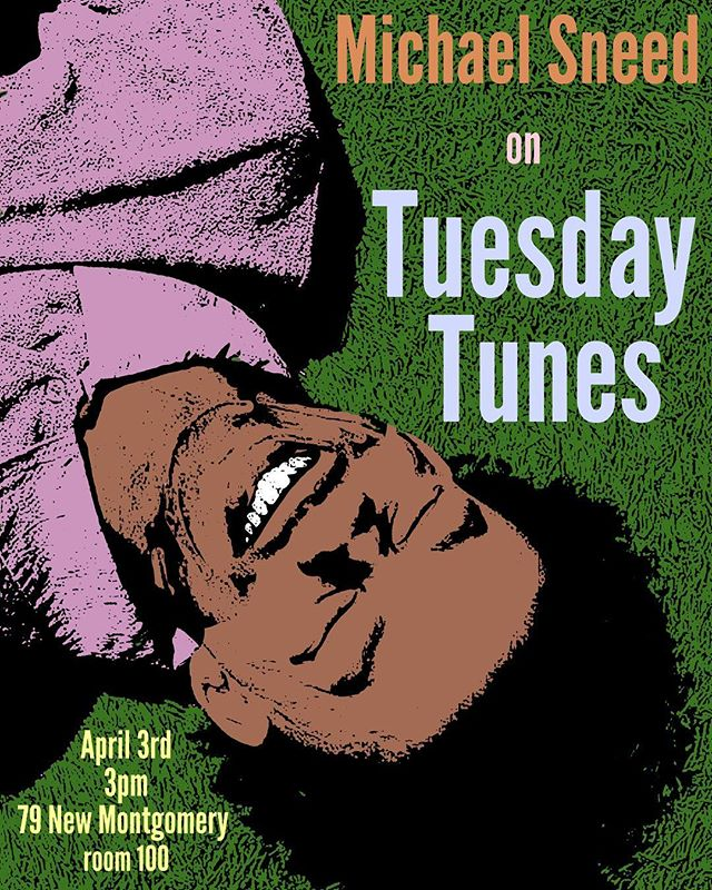 We might be on Spring Break this week, but don't worry.  Next week we'll be back with a brand new edition of TUESDAY TUNES!! feat. The one and only Michael Sneed!  APRIL 3rd @ 3pm in the UKR studios at 79 NEW MONTGOMERY room 💯 #tuesdaytunes @lilsnickerfoot