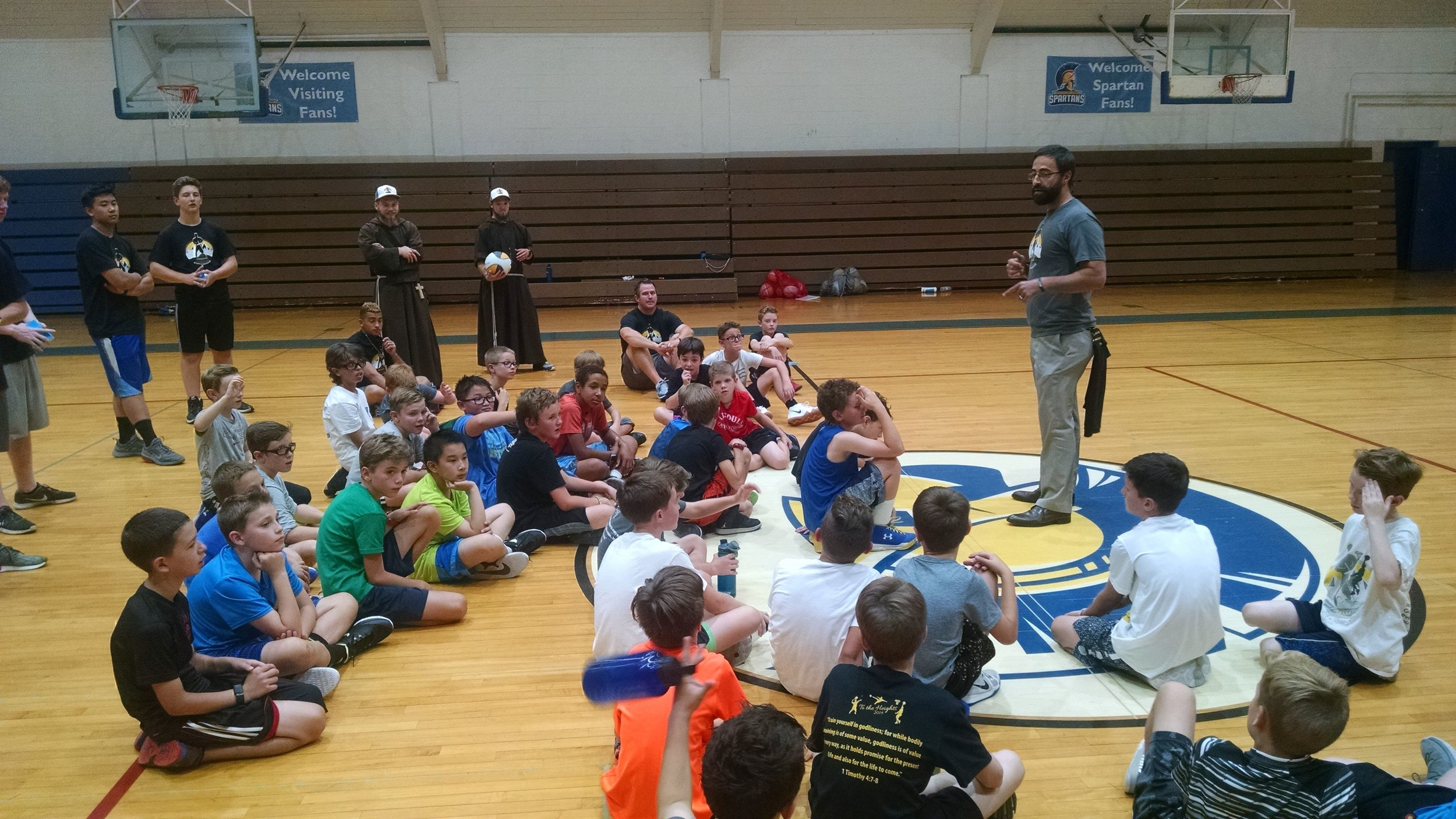 """Thomas Wurtz of Varsity Catholic: - """"These camps demonstrate what sports should be about - the forming of our youth as disciples. We need these all over the country."""""""