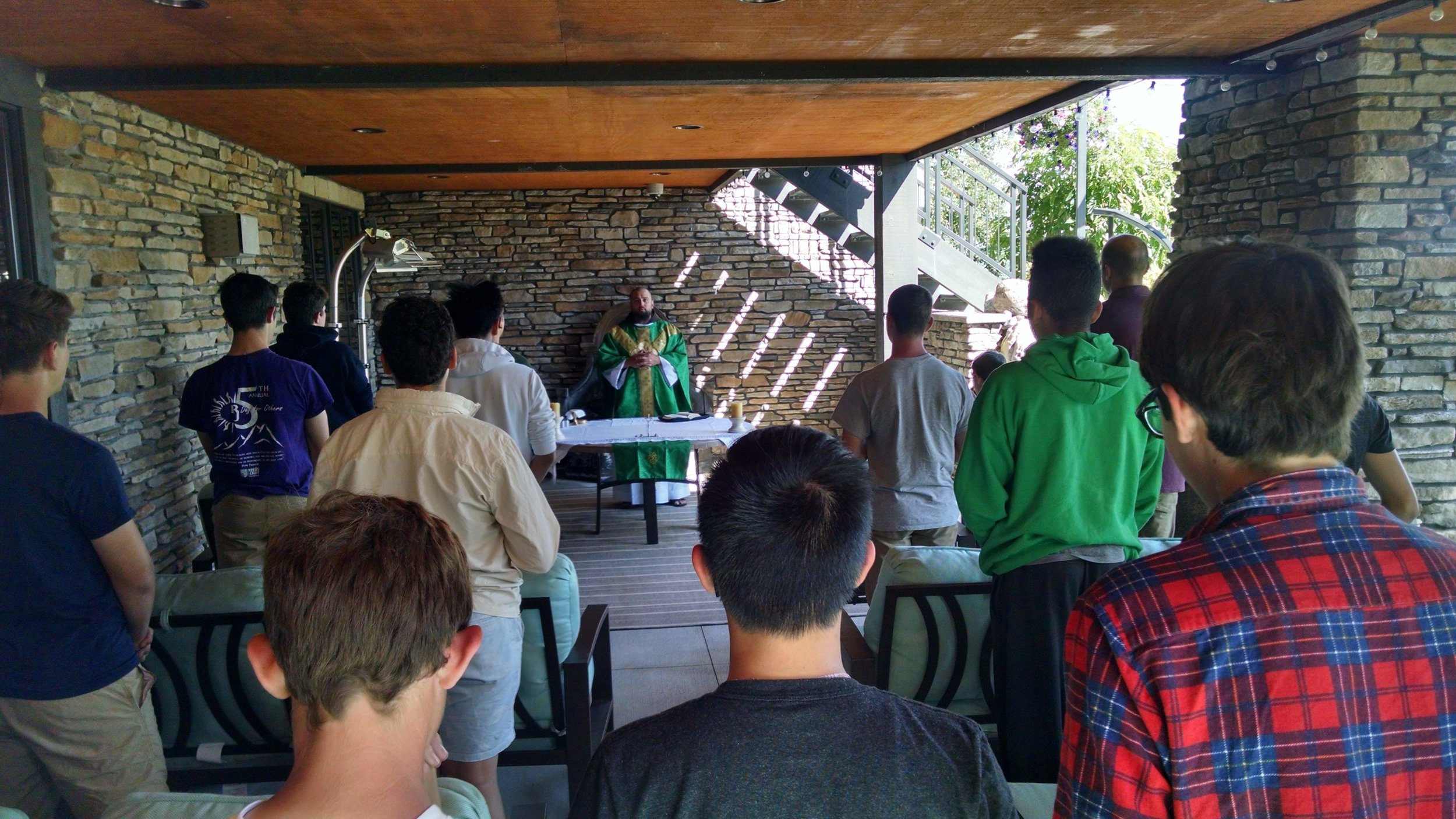 Prayer - Praying the Mass together during our annual retreat.