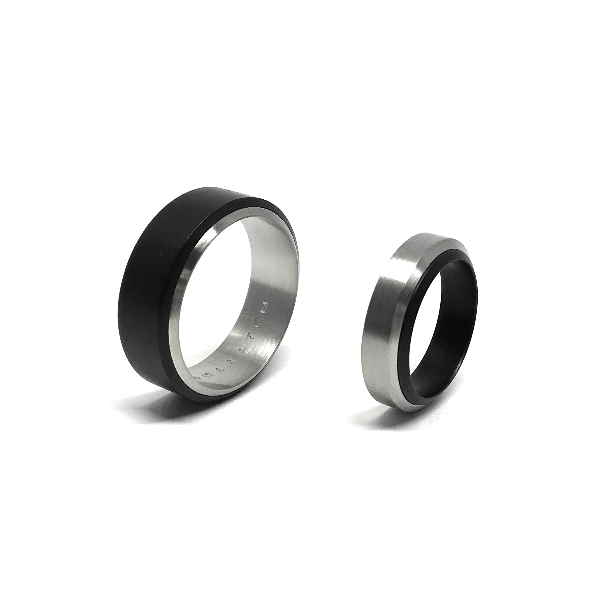 WEDDING BANDS - All of our wedding bands are custom made. Design is personalised and they may be manufactured employing a variety of materials (gold, platinum, titanium, stainless steel, corian) and diamonds -GIA certified- or any other gemstone. Different styles, sizes and even engraving are available to create the perfect piece for such a special occasion.