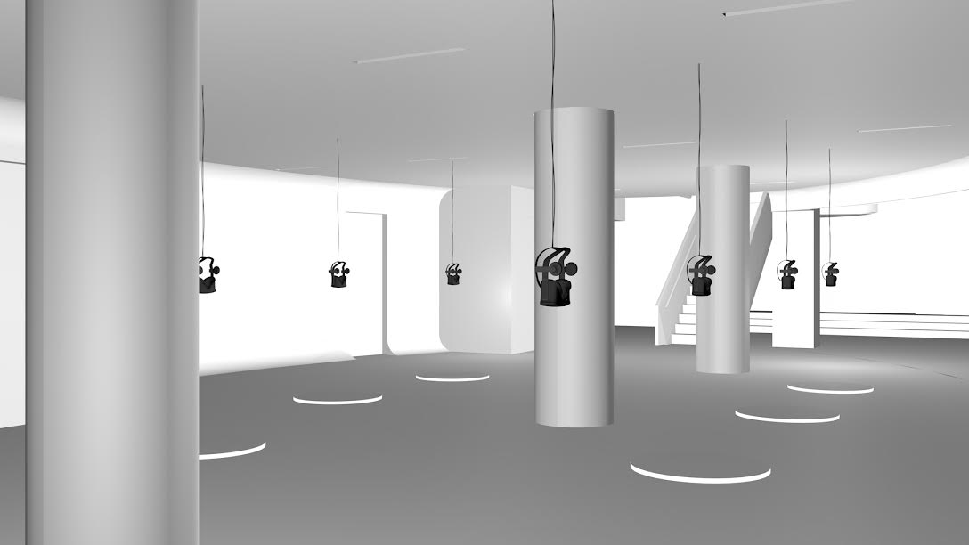 Original concept rendering of VR installation at Red Bull Arts New York