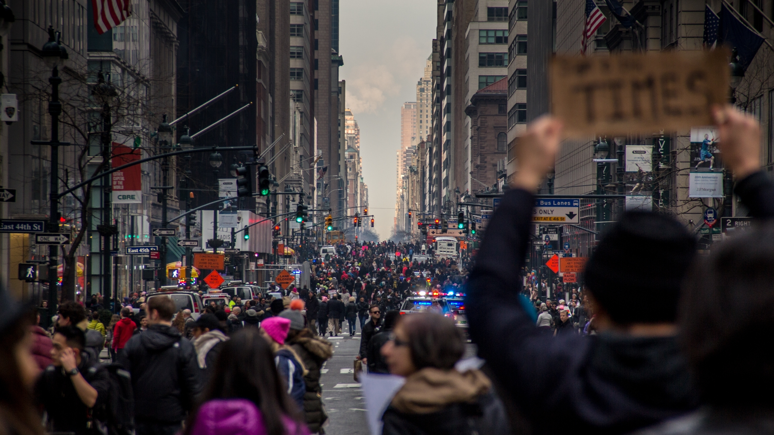 Womens March 360 - This 360° documentary short brings viewers into the streets alongside participants of the 2017 Women's March in New York City - a historic turnout of support for women's rights and equality. Captured in 360°to help understand the scope of how large an event this was.