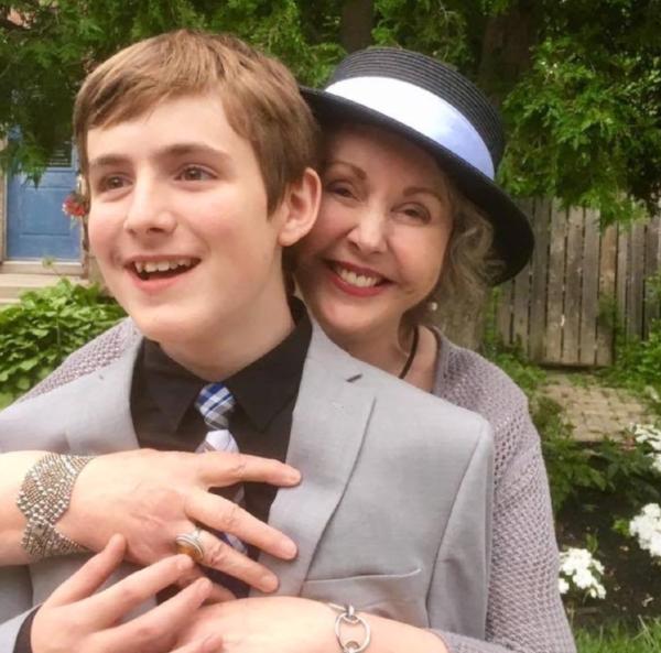 Elva with her Grandson Cal at his Grade 8 grad.
