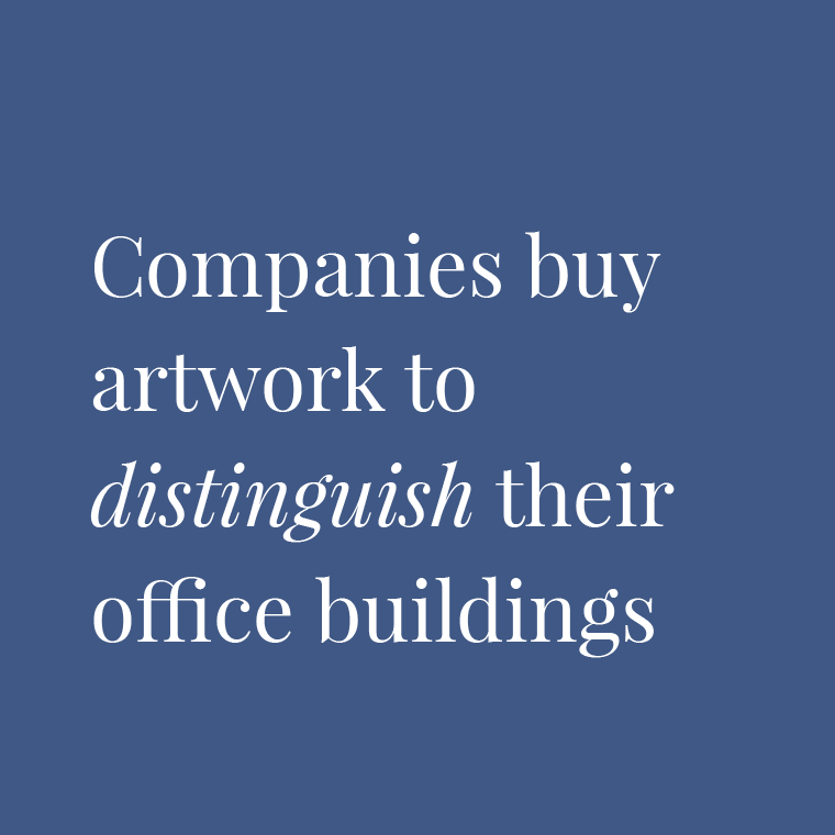 Image - Companies buy artwork to distinguish their office buildings