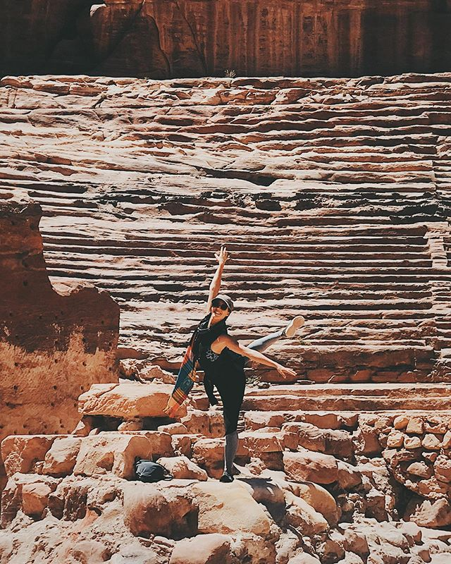 A little dancing around Petra's theatre! #travel #explore #hellostranger #ballet #dancer #ballerina #traveller