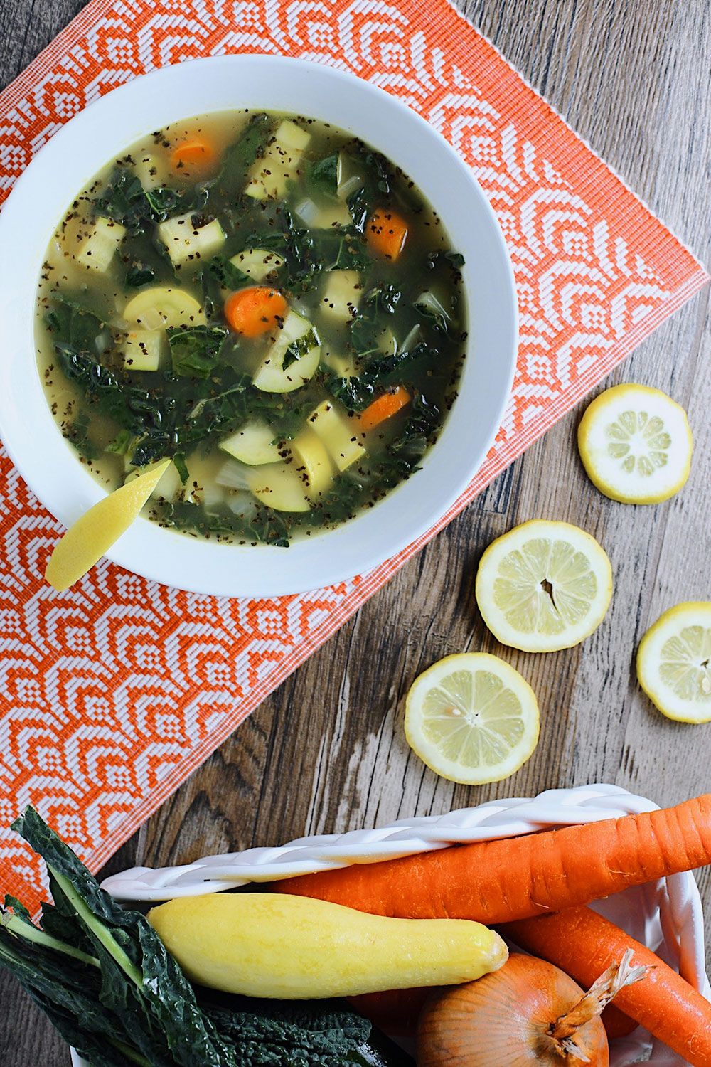 Lemon Basil Escarole Soup