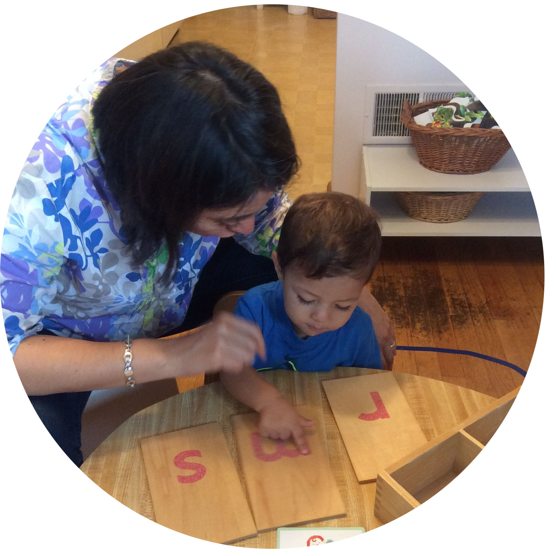 Sandpaper letters are an essential tool for language development in the Montessori classroom. They offer a tactile connection to each letter.