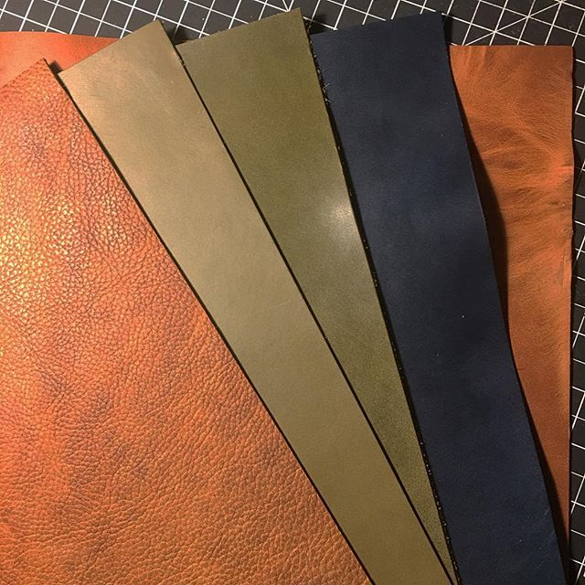 We decided to try out a plethora of project panels from @districtleathersupply and we are SO excited to see what these beauties end up being!  #leather #leatherwork #leathercraft #leathergoods #lfk #handmade #lawrence #buylocal #handcut #handstitched #handfinished