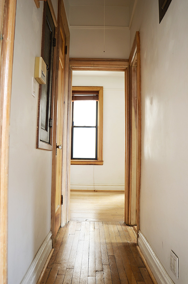 Hallway into bedroom