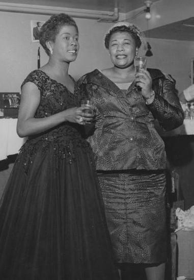 Sarah Vaughan (left) & Ella Fitzgerald