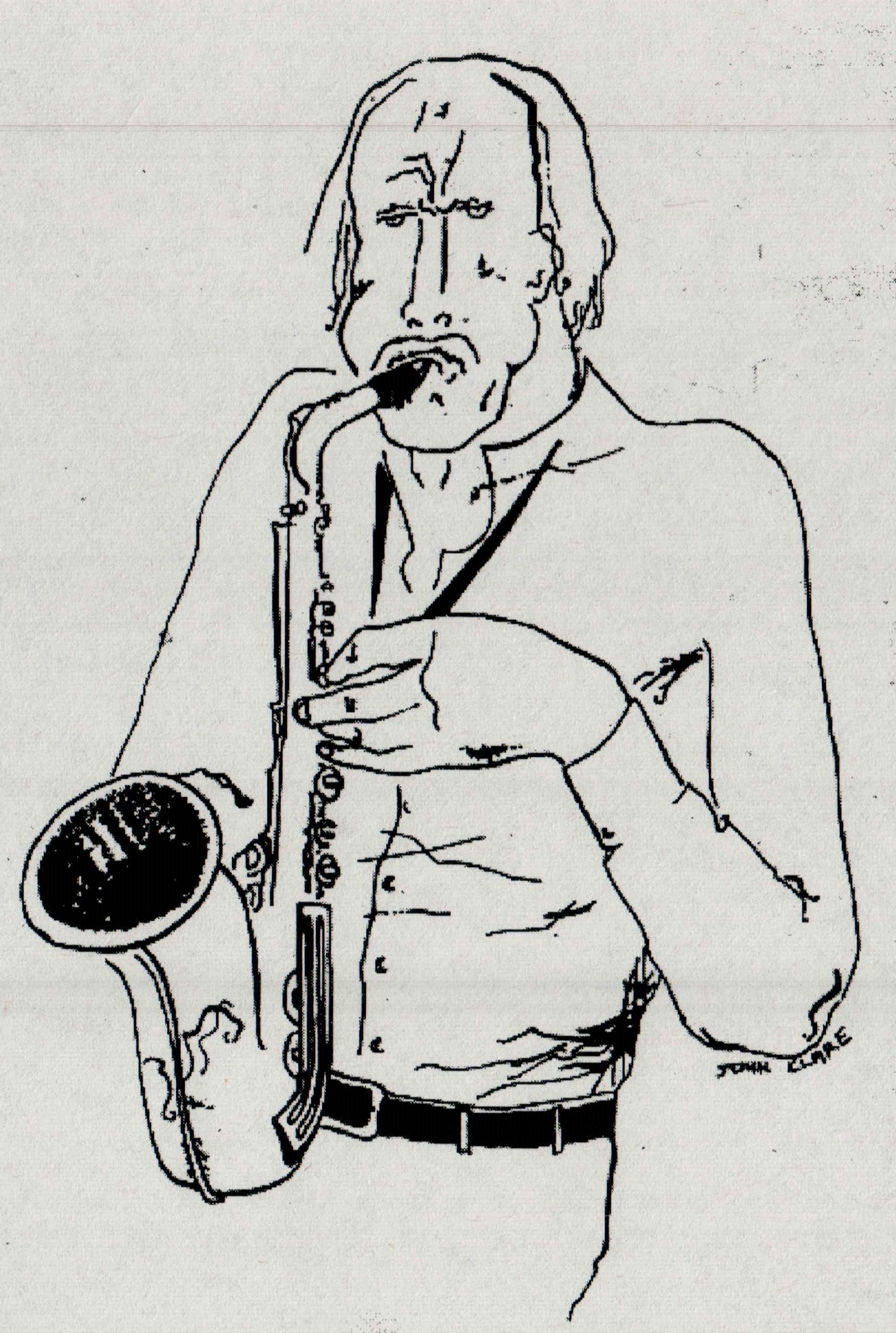 Bernie McGann  Drawing by John Clare