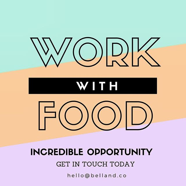 If you're interested in working with beautiful, nourishing food. Get in touch today by emailing hello@belland.co