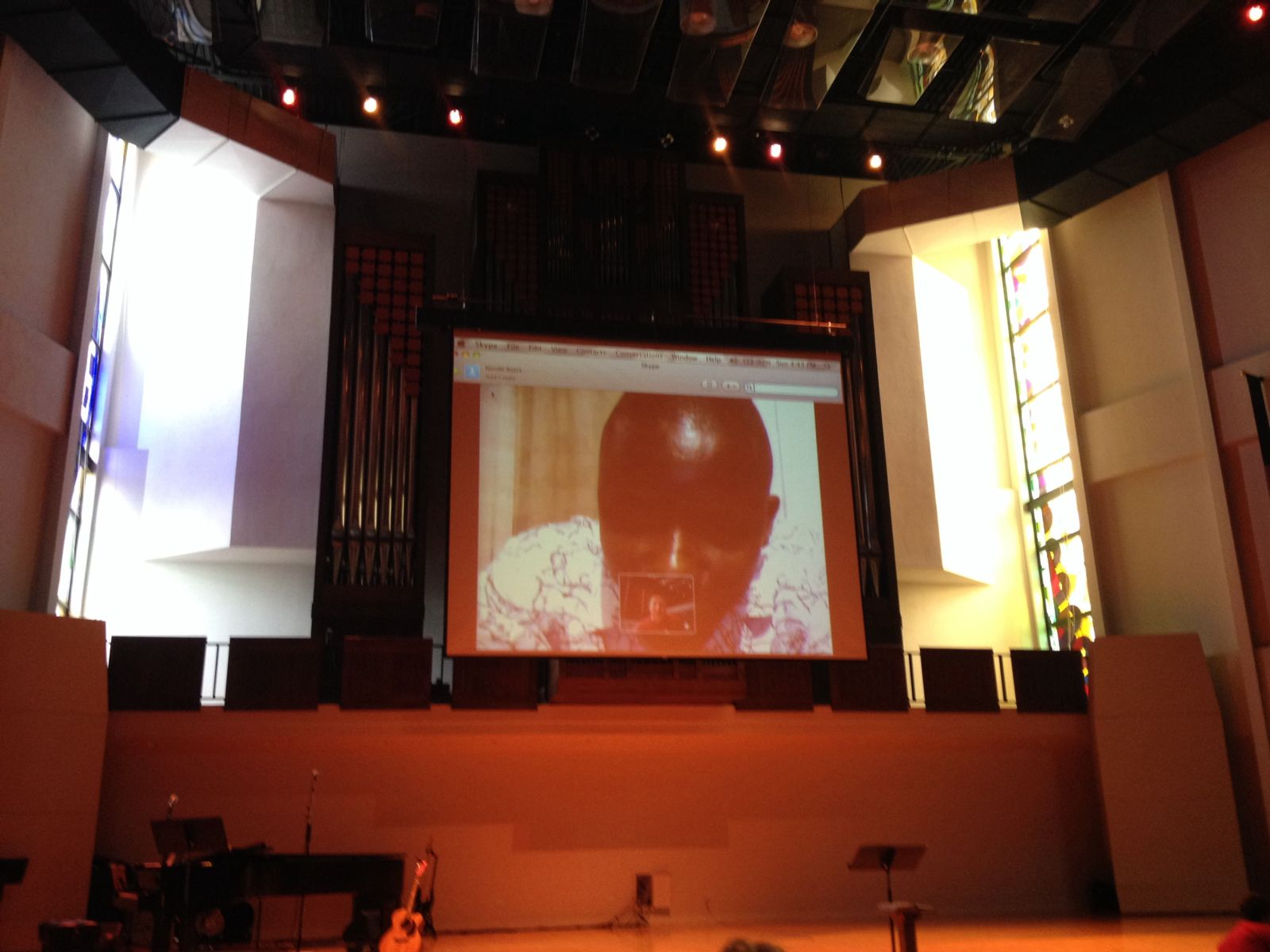 The call from Pastor Emmanuel. We were so glad to be able to speak with him even though he couldn't be here in person!