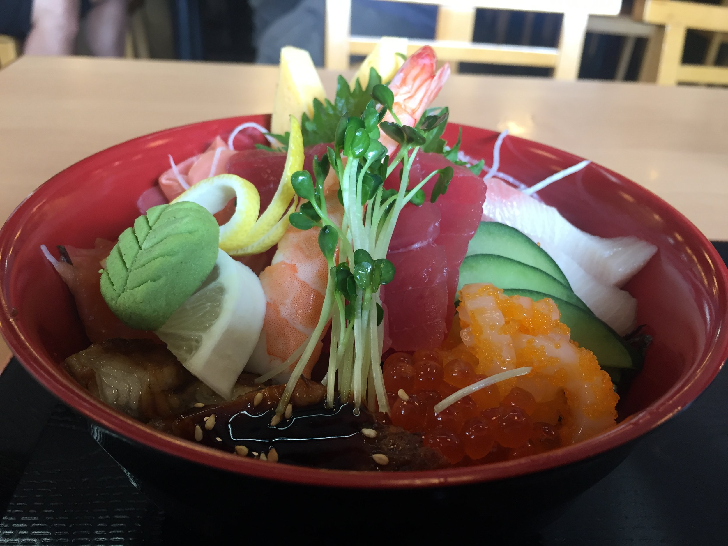 Today I ordered the Chirashi!
