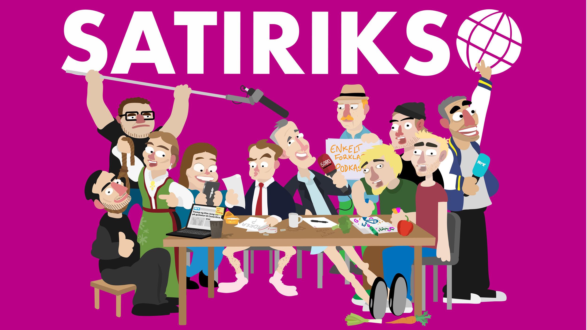 NRK SATIRIKS - LIVE PÅ EDDERKOPPEN