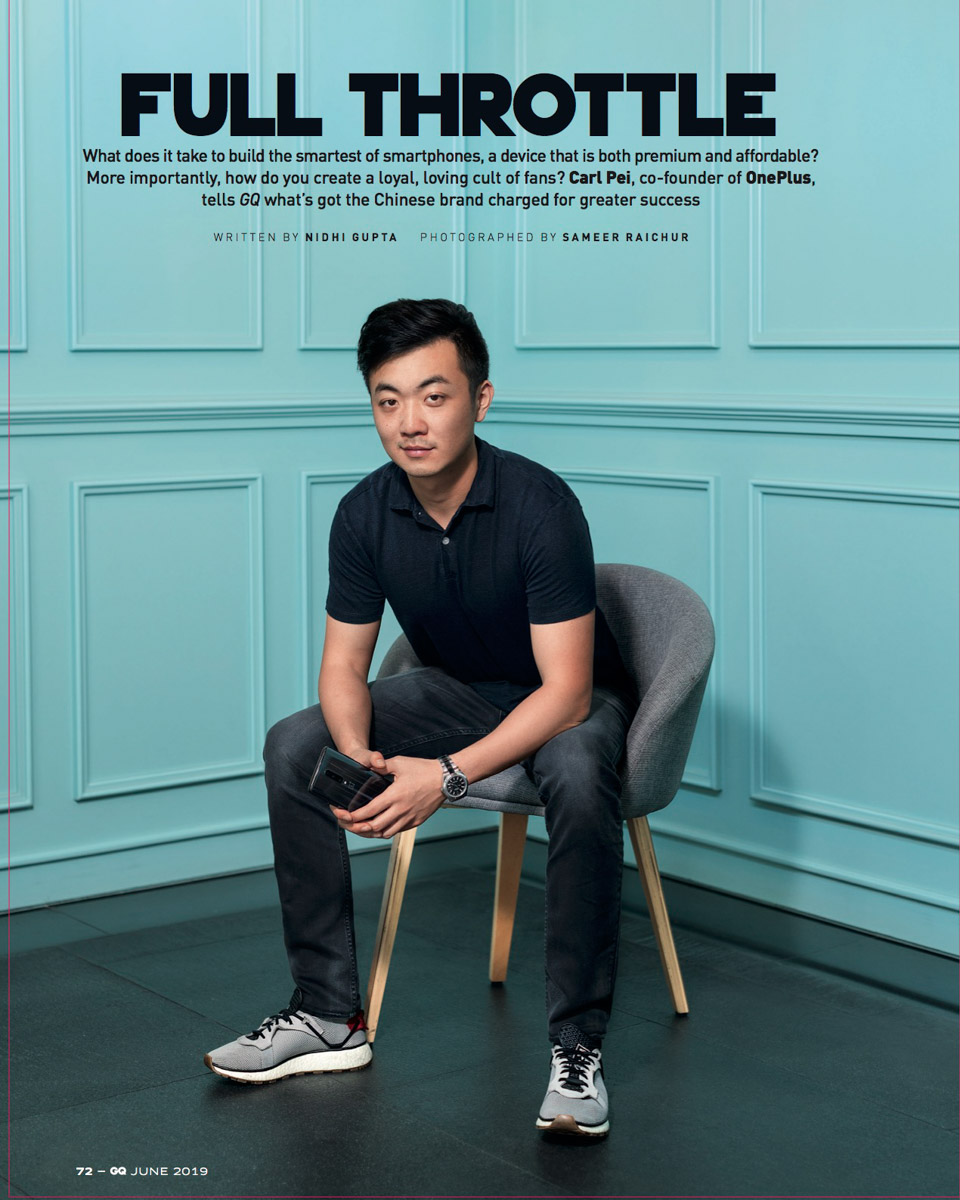 Carl Pei, founder of OnePlus global for GQ, India