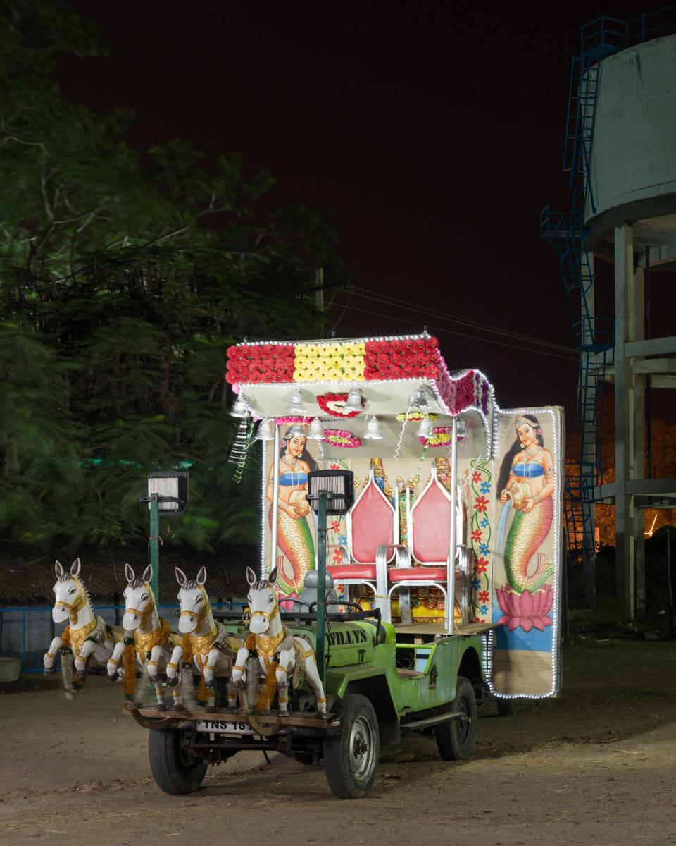 "'Night, Day. Work. Play' (I) 'Mannu' Tiruvannamalai 9th December, 2017; 36"" x 29"" Archival print on Hahnehmühle pearl."