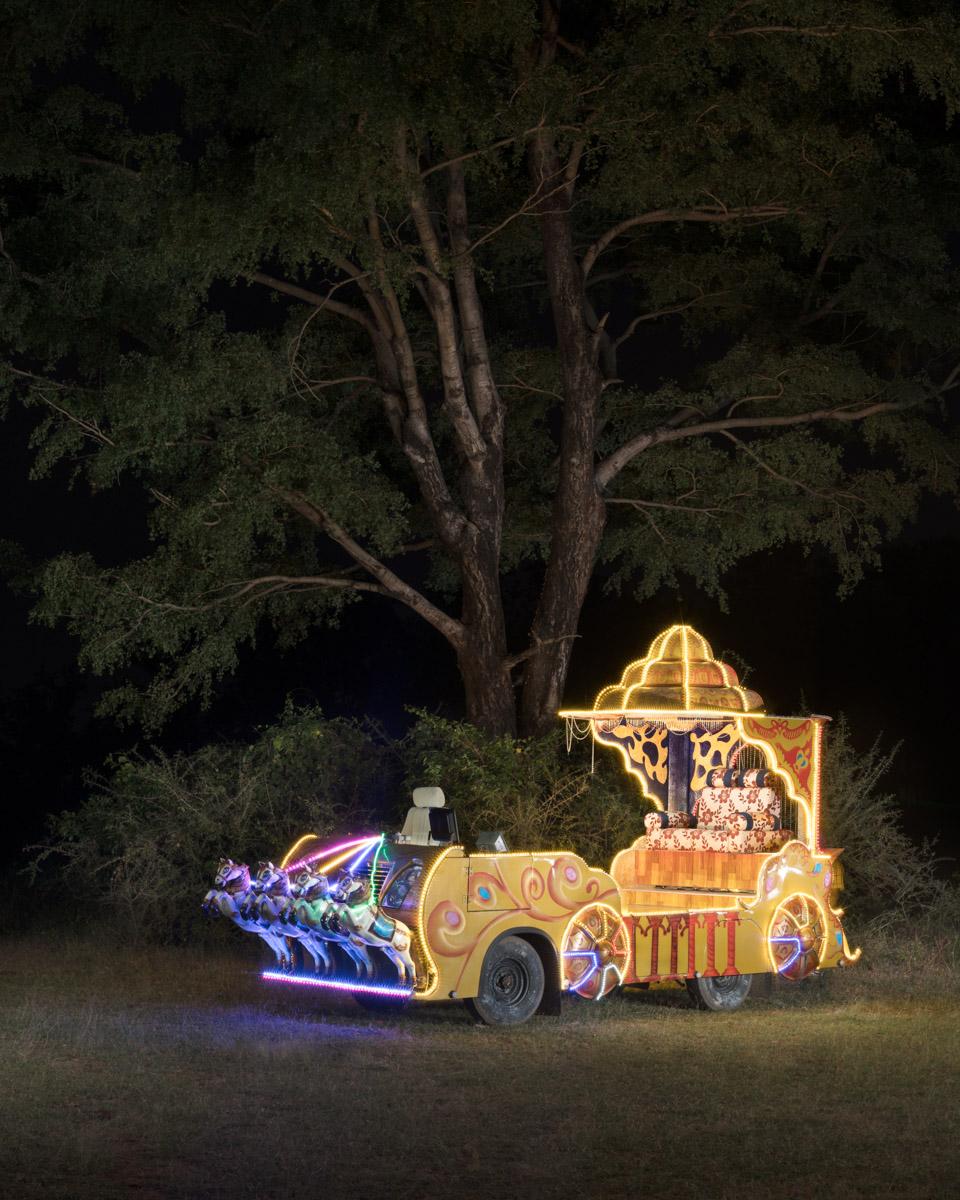 """'Pleasure Chariot' - Vetavalam. 15 August, 2018. 36"""" x 29"""" Archival inkjet print on Hahnehmühle pearl."""