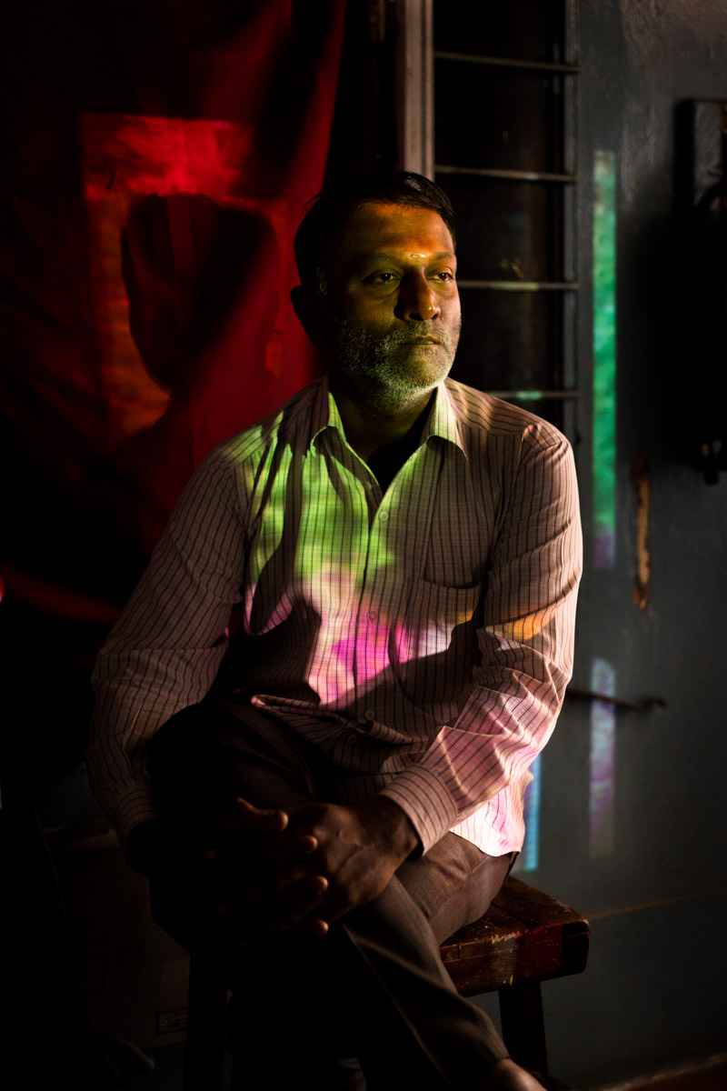 Sunil, projectionist at HMT theatre, Bangalore