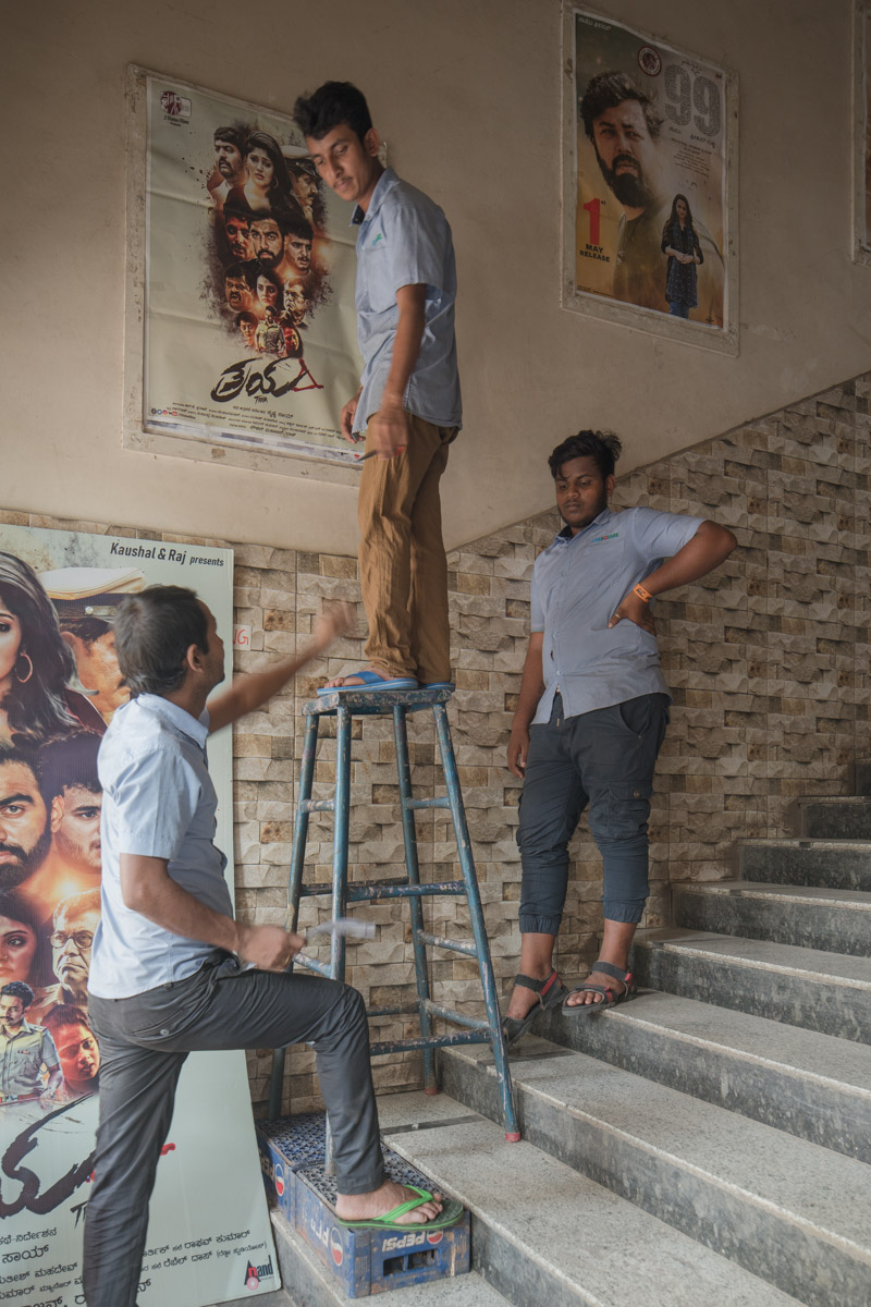 Workers at Kavitha theatre, bangalore