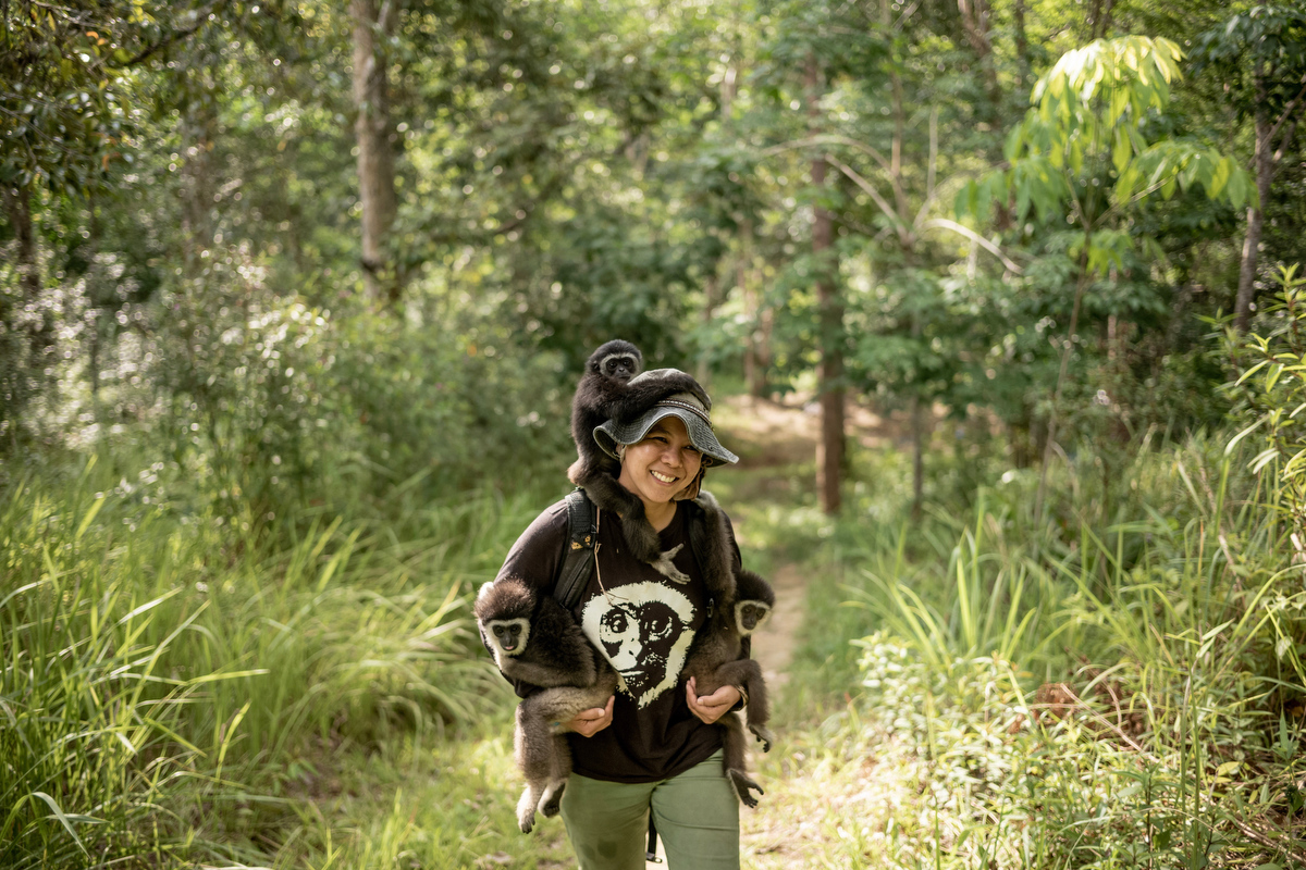 Bam started her career as a government ranger and after participating in a study program at the Copenhagen Zoo she started to gain interest in conservation.