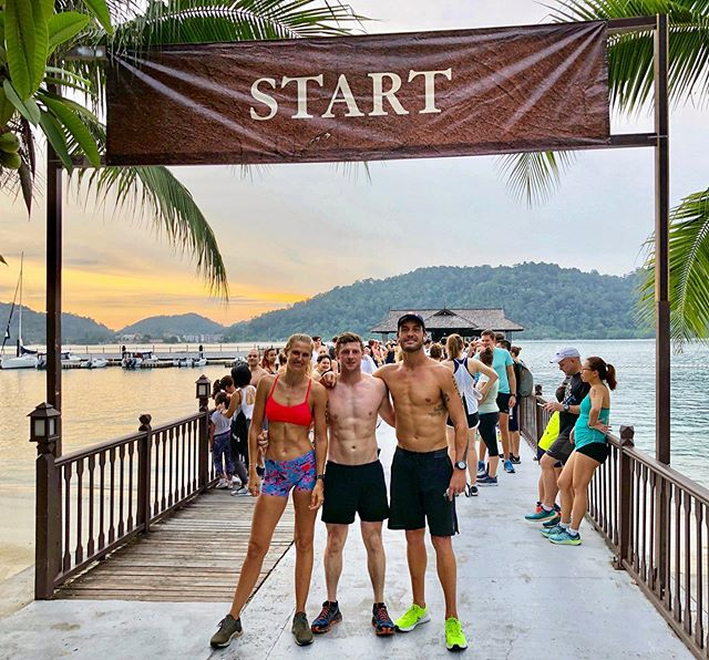 Chapman's Challenge! Back for the third time. Always a treat running (walking*) through the jungle and swimming in emerald bay! This time I had a little more time to appreciate the scenery. Frustrating walking a race I would love to run, but I can't complain in a location like this 💫 🌴 #ChapmansChallenge