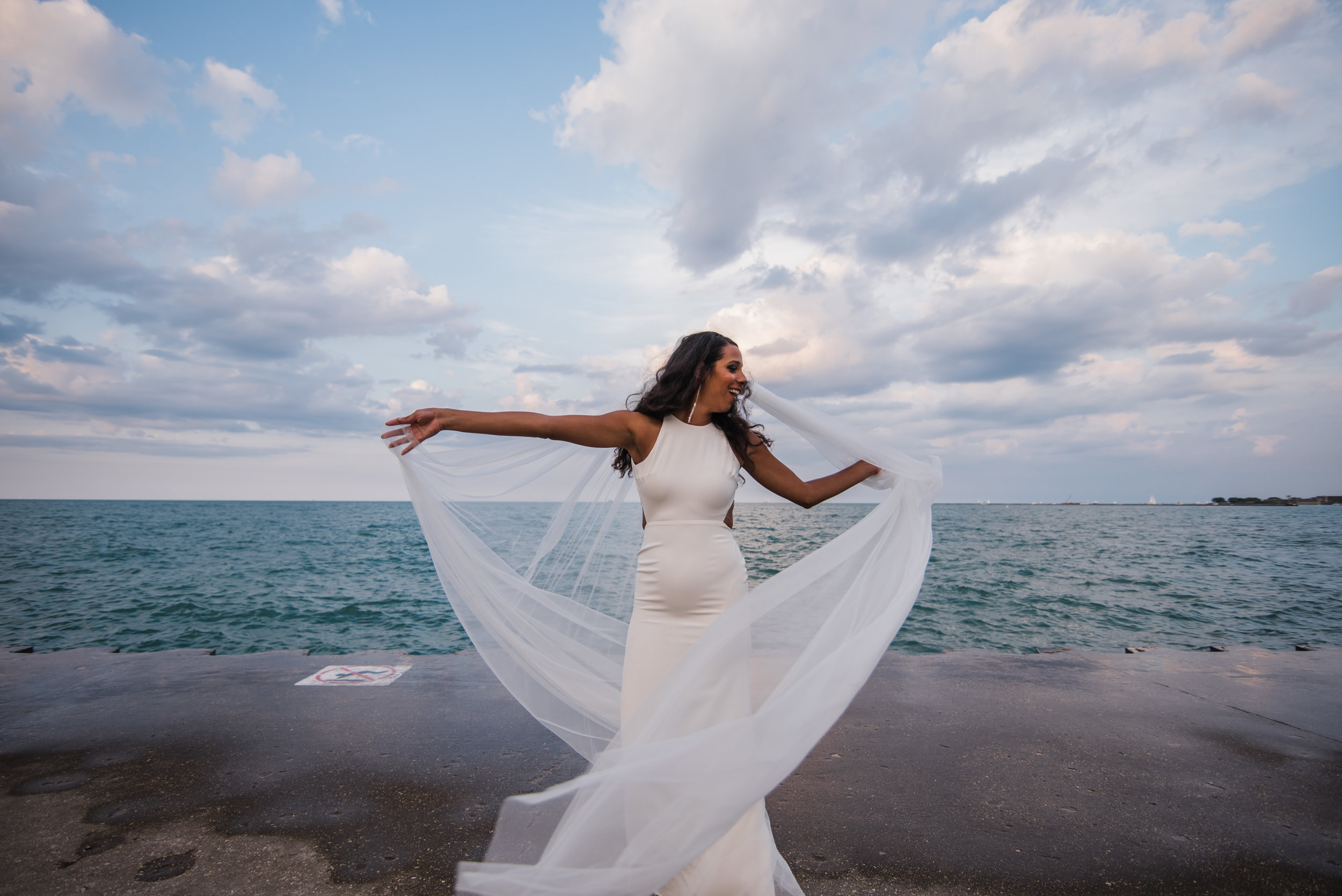 Chicago wedding sarah seven gown