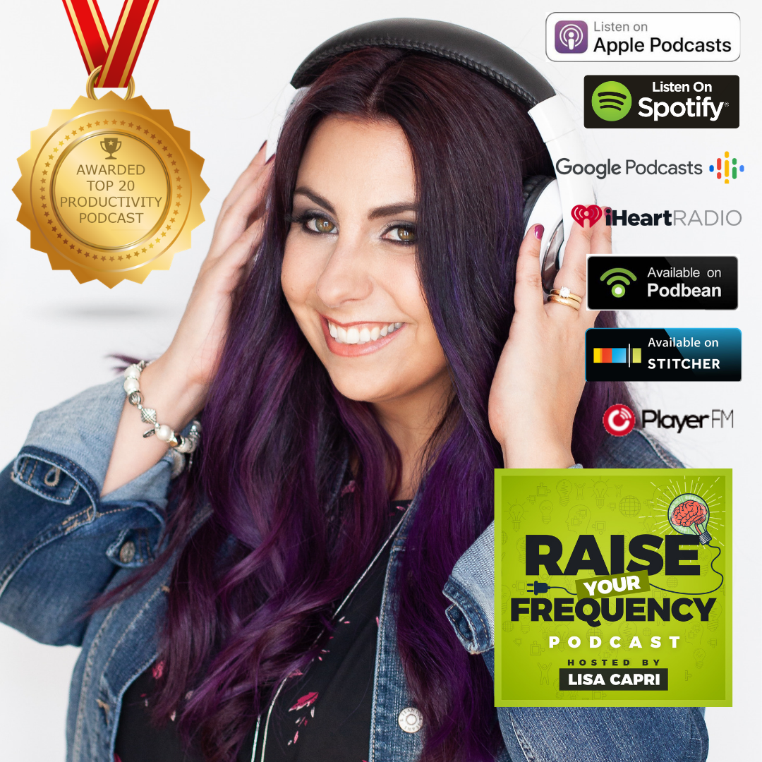 """Meet Your Podcast Coach - Lisa Capri is Host of Raise Your Frequency Podcast, a weekly show tackling lifestyle and productivity hacks for entrepreneurs. Her podcast was recently awarded Feedspot's """"Top 20 Productivity Podcast"""".With over 15 years of being a serial entrepreneur, Lisa teaches her students how to grow their community, influence and audience through podcasting.Will YOU be launching a podcast this year with Lisa as your guide?"""