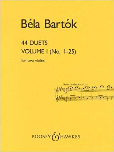 Bartók: 44 Violin Duets - Volume 1 (No. 1-25)