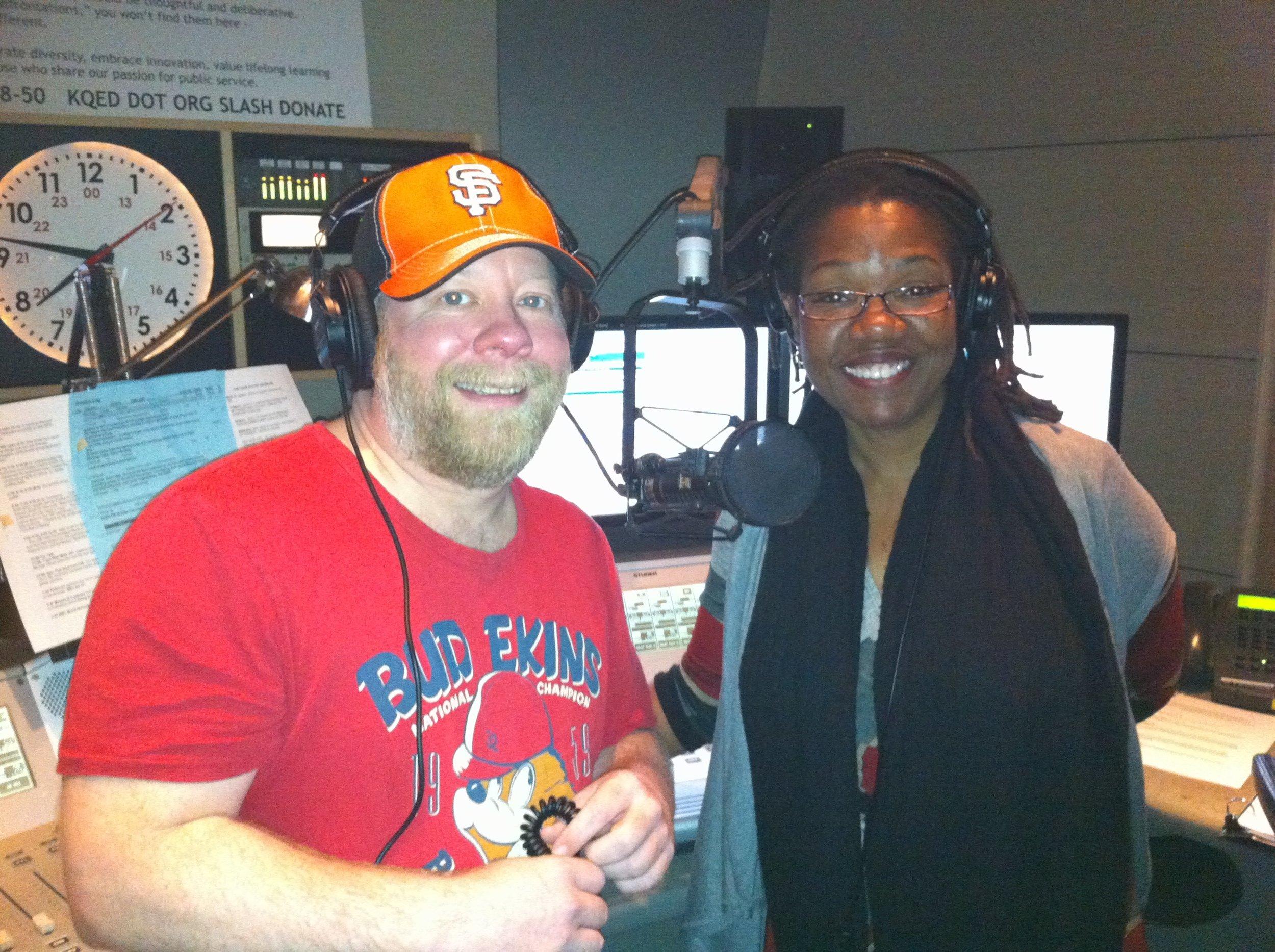Bud Gundy and Michelle Henagan on KQED radio.